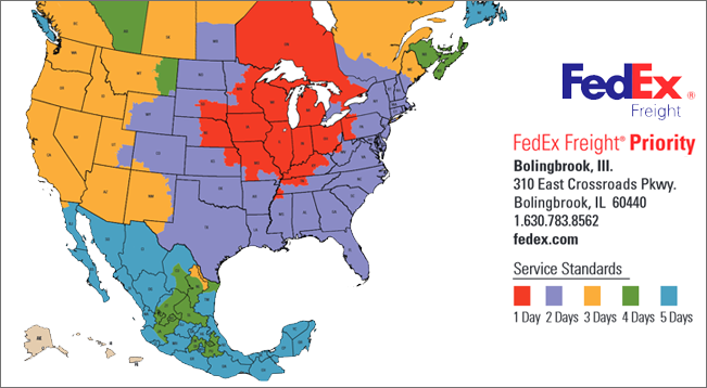 FedEx Freight Shipping Delivery Map